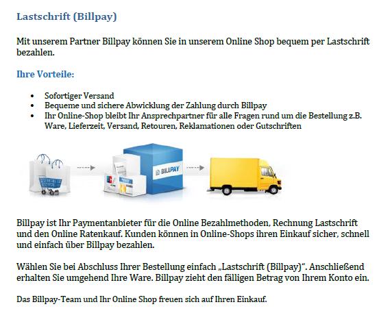 Zahlung per Lastschrift f�r Ihren Online Shop